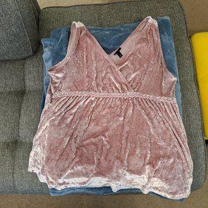 Torrid Pink Crush Velvet Babydoll Top